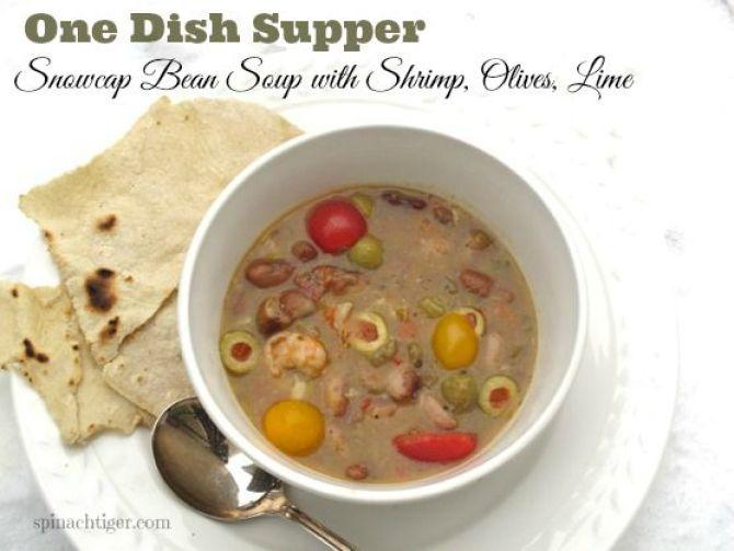 Snowcap Heirloom Bean Soup and homemade tortillas  by Angela Roberts