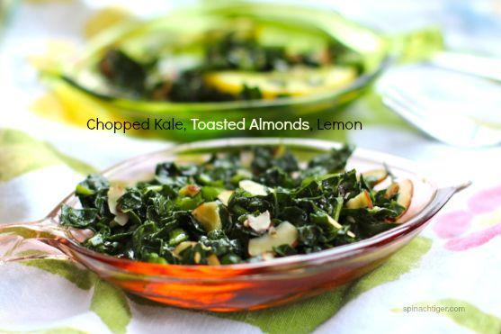 Chopped Kale Salad with Almonds, Lemon, Pecorino Cheese by Angela Roberts