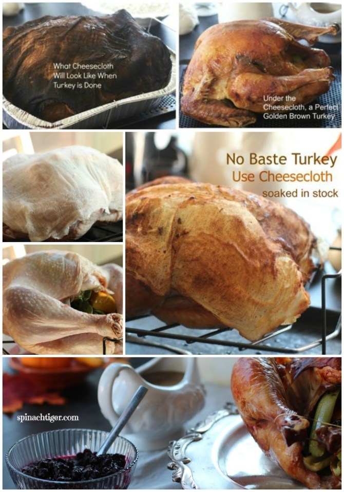 No baste Turkey: How to Roast turkey with Cheesecloth by Angela Roberts