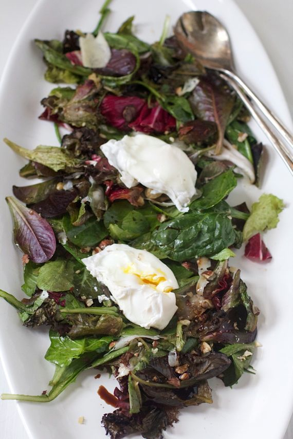 Roasted Salad with Poached Eggs by Angela Roberts