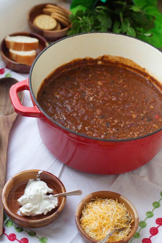 Five Hour Five Bean Chili