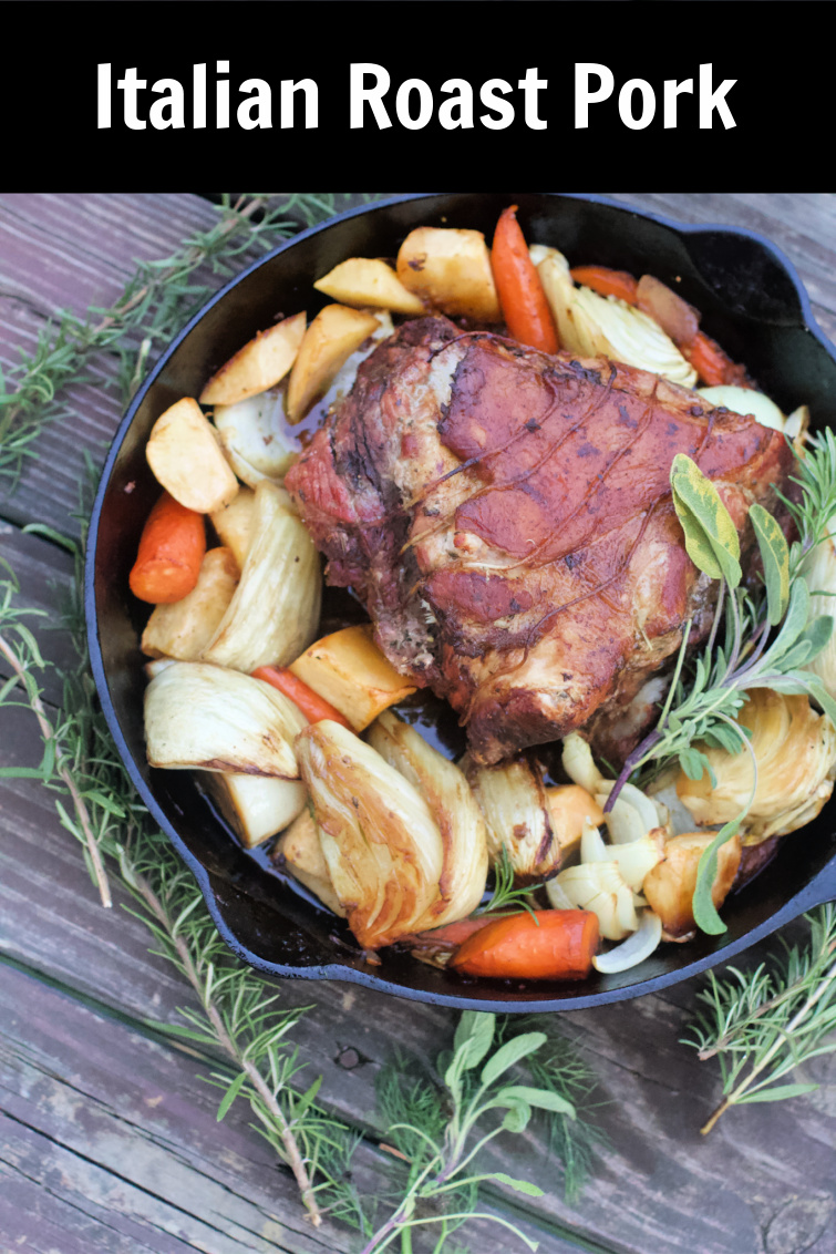 Italian Roast Pork makes amazing sandwiches or special dinner. Fennel, capers, lemon, rosemary, slow cooked to perfection. #porchetta #spinachtiger via @angelaroberts
