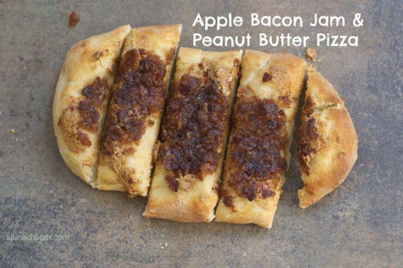 Peanut Butter & Apple Bacon Jam Pizza