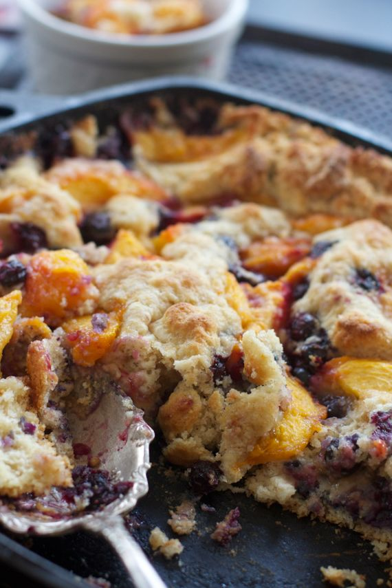 Fresh Peach Cobbler and How to Peel Peaches by Angela Roberts