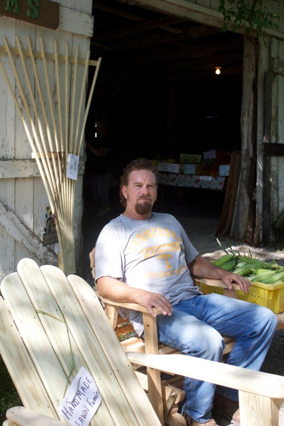 Bobby Burns at Burns Farm Produce Stand in Arrington by Angela Roberts