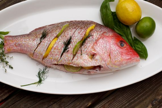 Grilling a Whole Red Snapper by Angela Roberts
