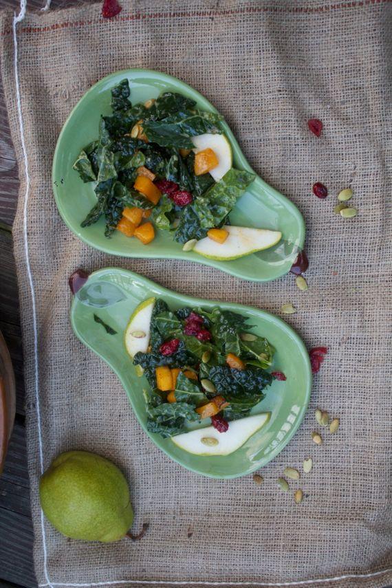 Autumn Kale Salad with Warm Cider Vinaigrette 2 by Angela Roberts