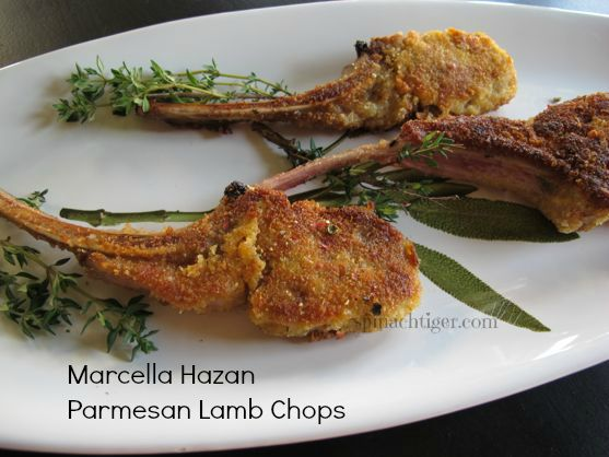 Parmesan Crusted Lamb Chops for a Year of Cooking Italy with Marcella Hazan by Angela Roberts