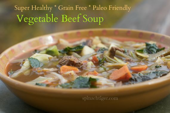 Vegetable Beef Soup Grain Free, Healthy Soup Recipes by Angela Roberts