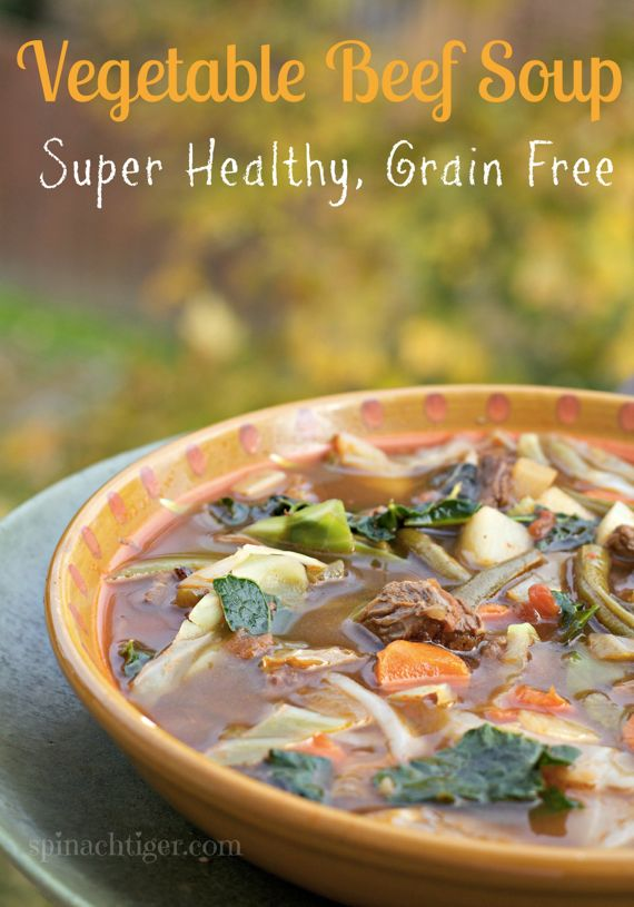 Paleo Beef Vegetable Soup, Grain Free, Paleo by Spinach Tiger