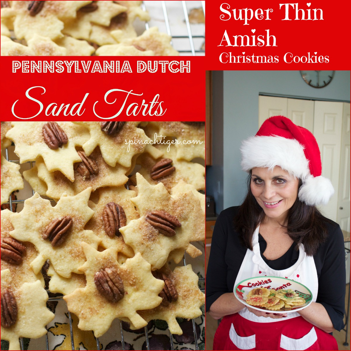 Pennsylvania Dutch Sand Tarts from #spinachtiger #sandtarts #christmascookie #amishcookie via @angelaroberts