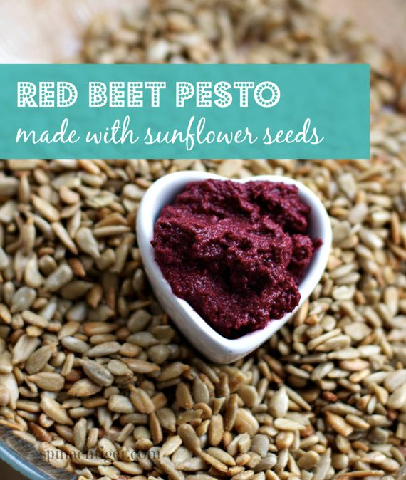 Red Beet Pesto with Sunflower Seeds by Spinach Tiger