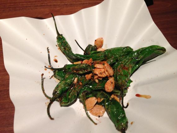 Shisito peppers at Two Ten Jack by Angela Roberts