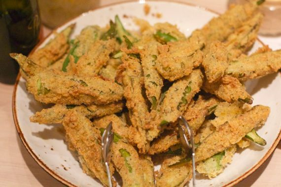 Fried Okra at Omni Hotel Kitchen Notes by Angela Roberts