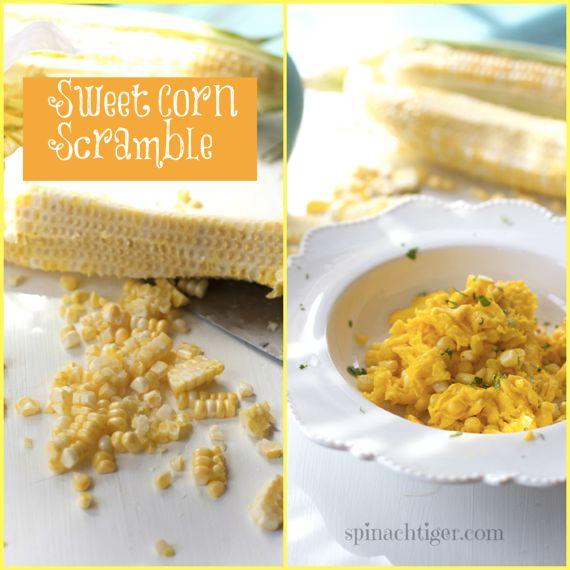 Sweet Corn Scramble Eggs by Angela Roberts