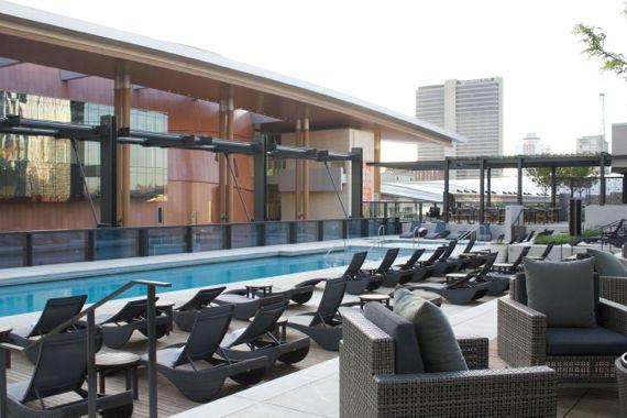 Rooftop Pool Mokara Spa at Omni Nashville by Angela Roberts