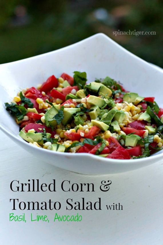 Grilled Corn Tomato Salad