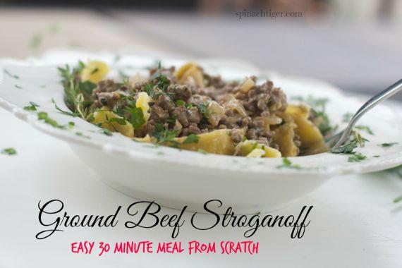 Ground Beef Stroganoff Recipe by Angela Roberts