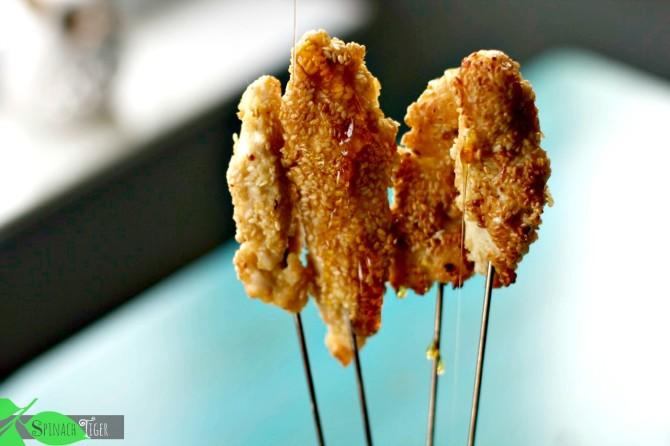 Paleo Honey Sesame Chicken Tenders