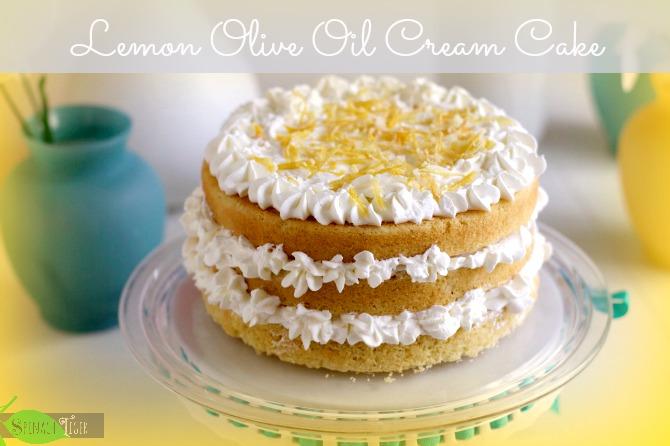 Lemon Olive Oil Cream Cake by Angela Roberts