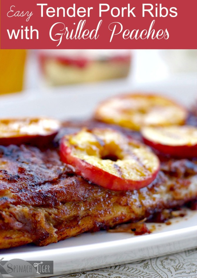 Grilled Peaches with Pork Ribs