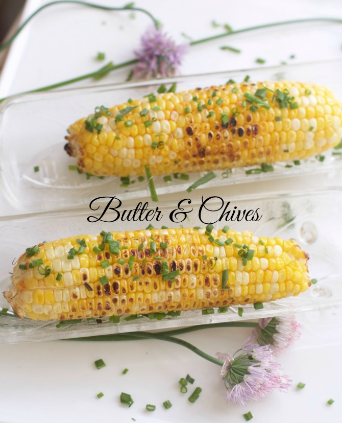 Grill Corn with Butter & Chives by Spinach Tiger