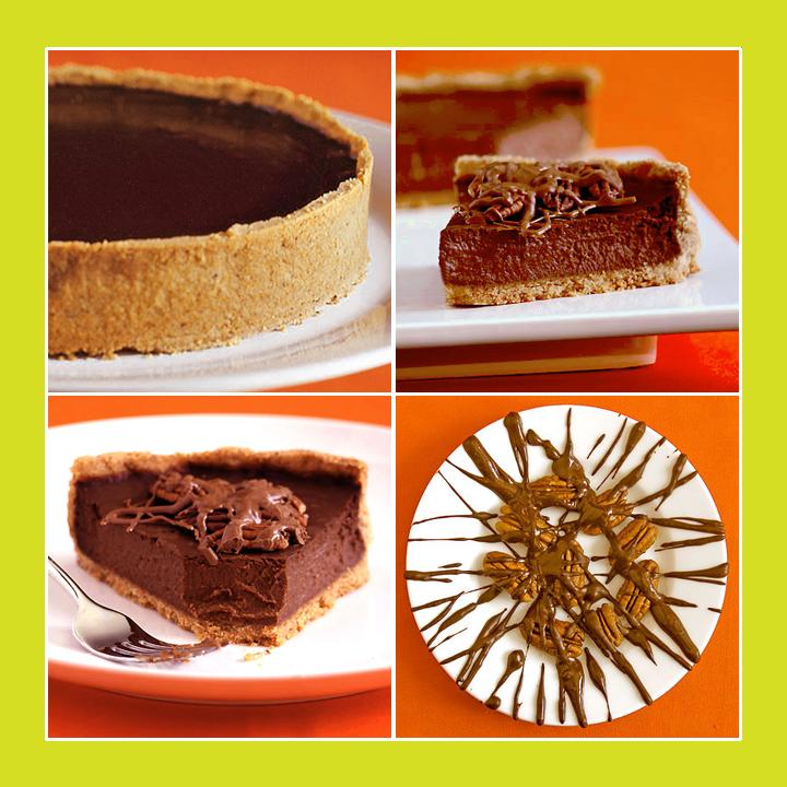 Triple Chocolate Pumpkin Tart by Sippity Sup