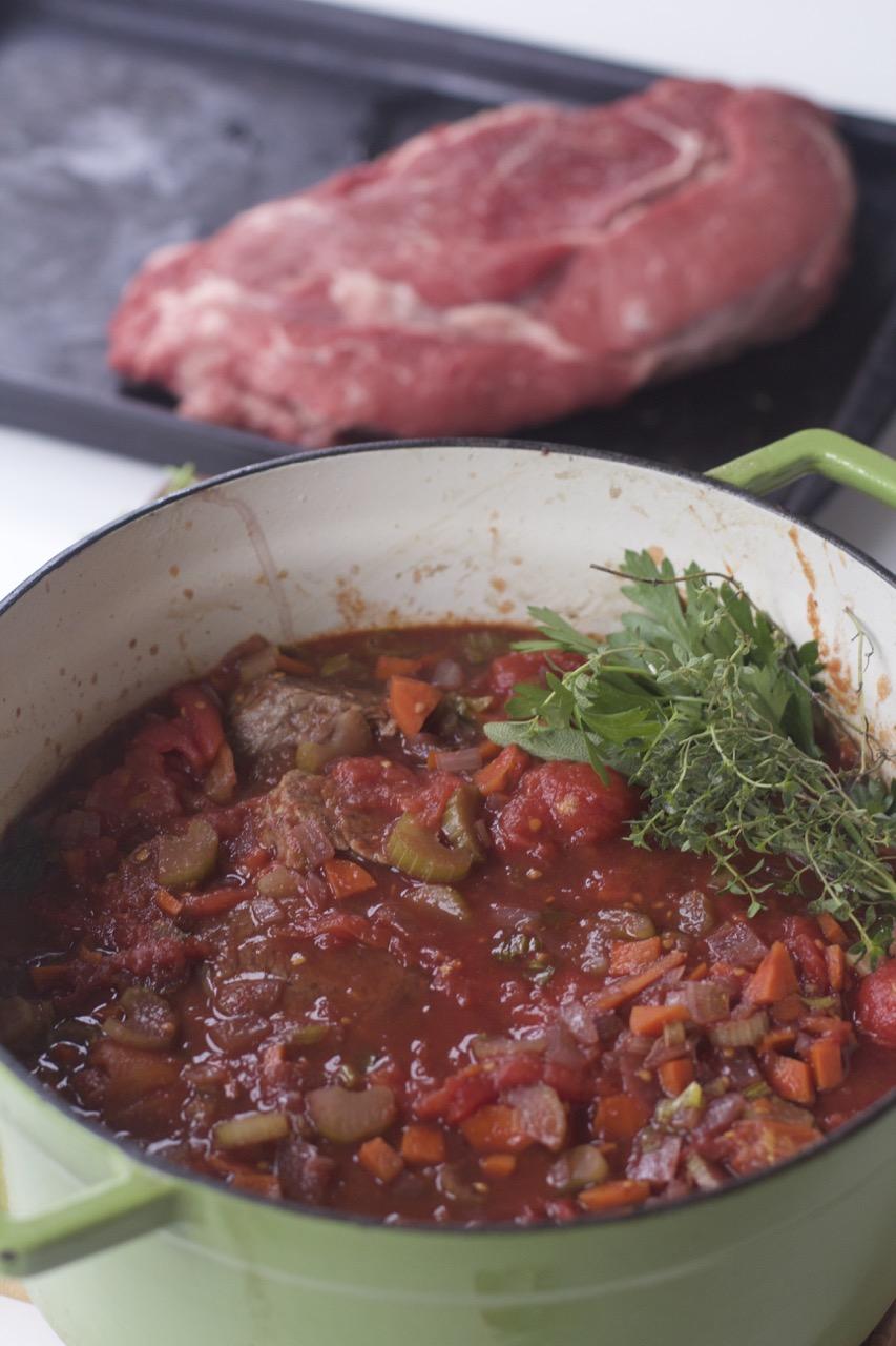 Pot Roast of Beef Italian Style