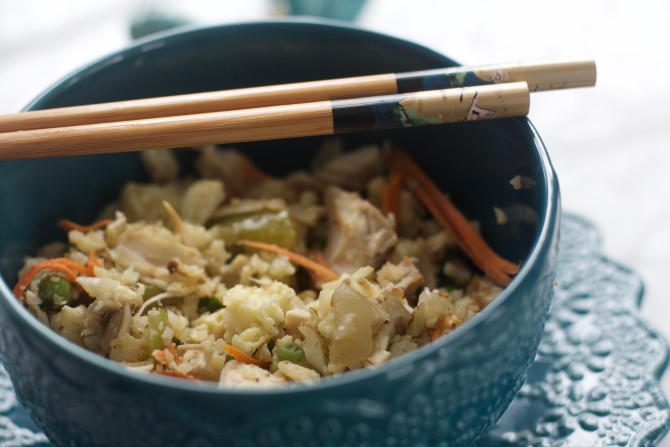 paleo turkey cauliflower fried rice