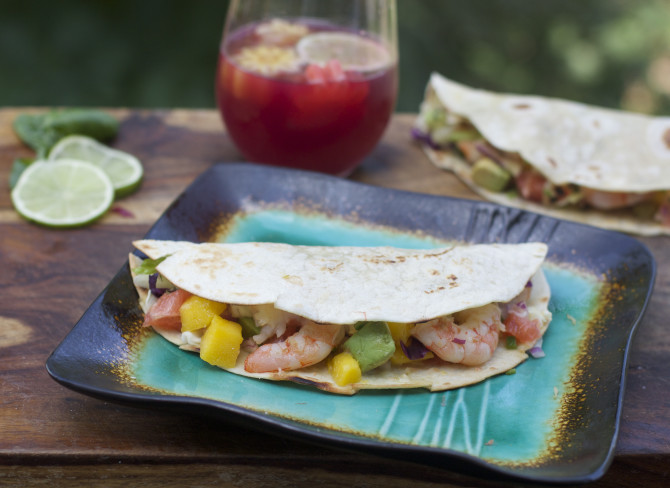 Big Fat Healthy Shrimp Recipes with tacos from Spinach Tiger