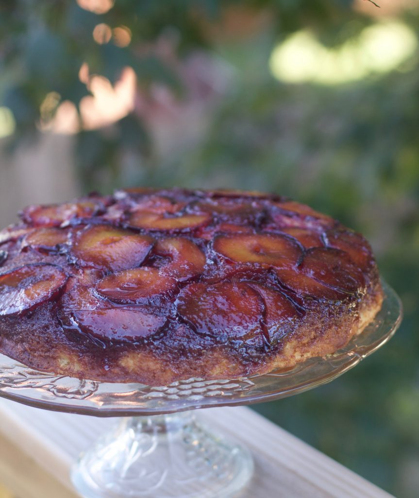 Easiest Upside Down Plum Cake Recipe from Spinach Tiger