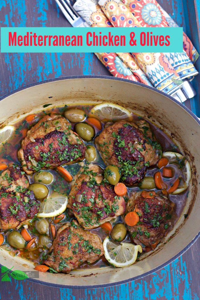 Mediterranean Chicken and Olives Recipe by Angela Roberts