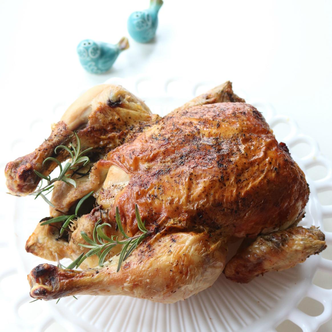 easy low dinner recipes: Roast chicken