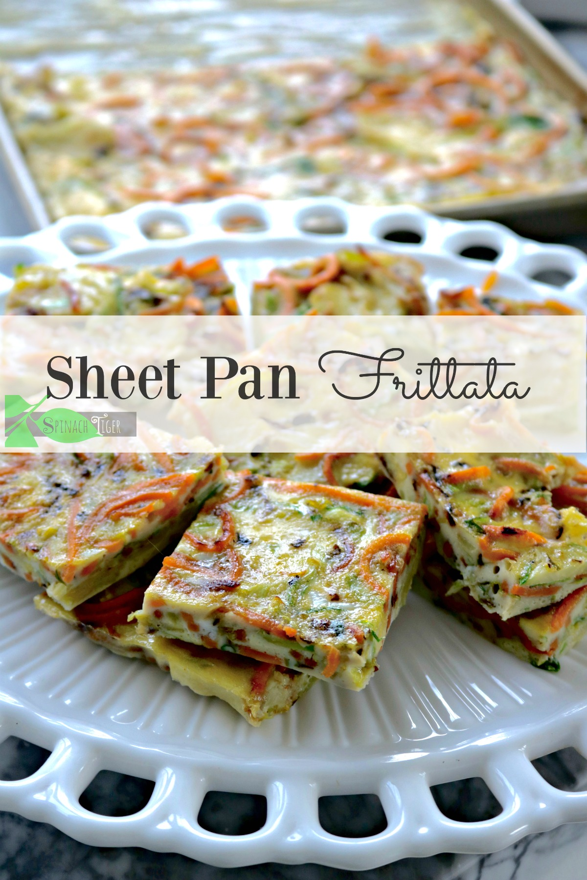 Sheet Pan Frittata and Holiday Side Dishes from Spinach Tiger