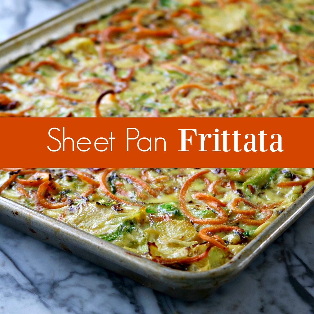 Sheet Pan Frittata, A Vegetarian Frittata Recpe from Spinach Tiger