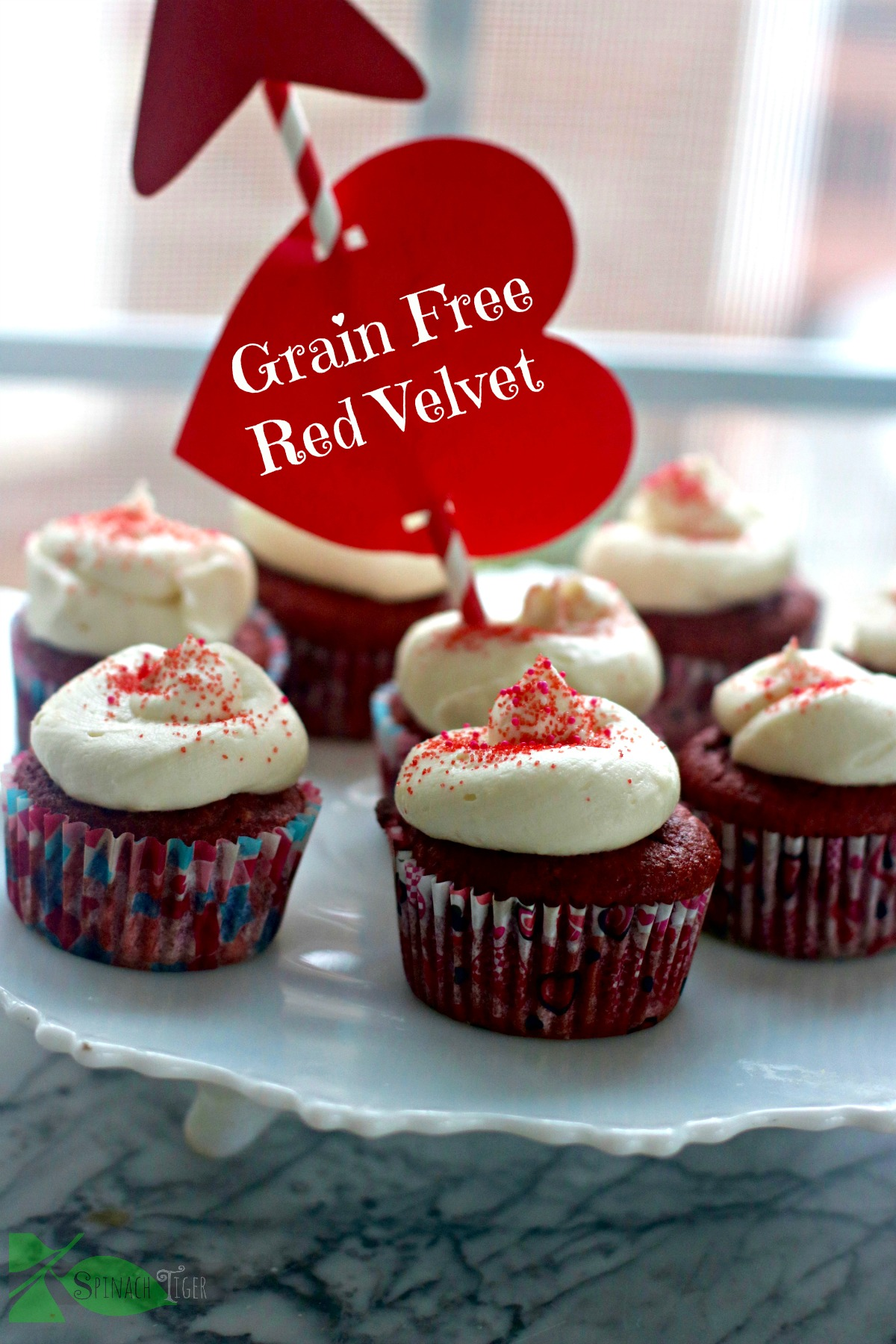 grain-free-sugar free red velvet cupcakes from spinach tiger
