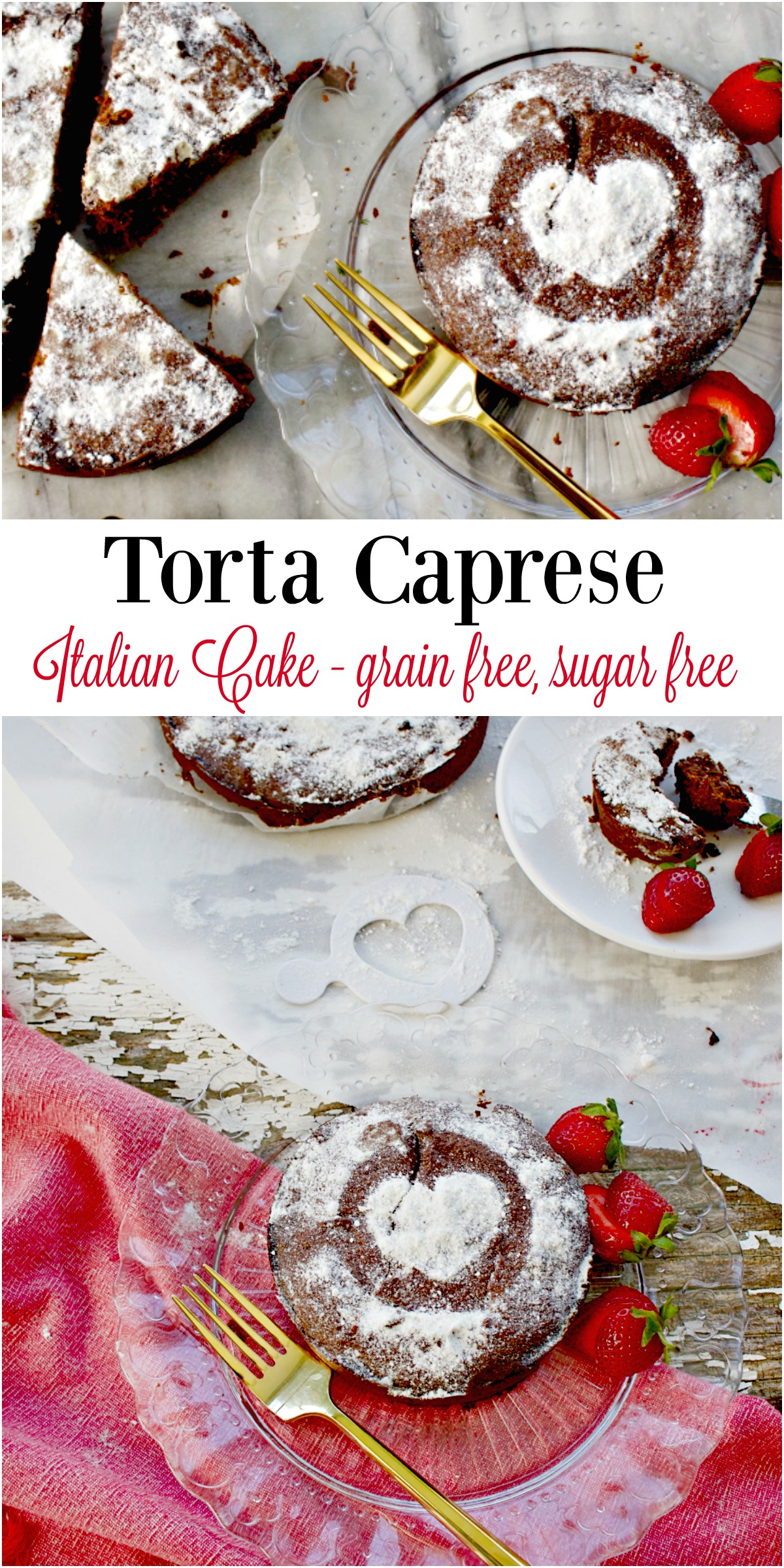 Torta Caprese, Chocolate Almond Flour Cake, Gluten Free from Spinach Tiger
