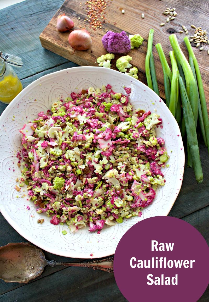 Raw Purple cauliflower Salad