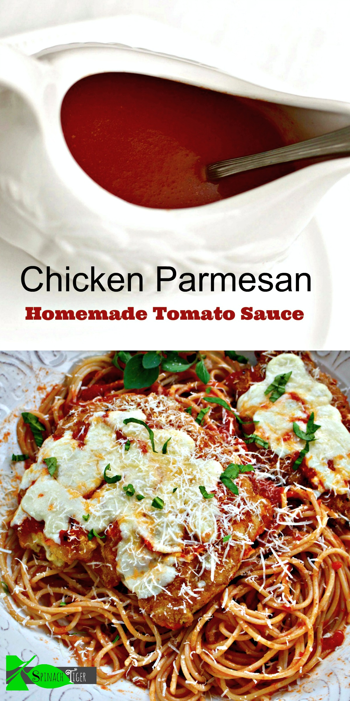 Homemade Tomato Sauce with Gluten Free Chicken Parmesan
