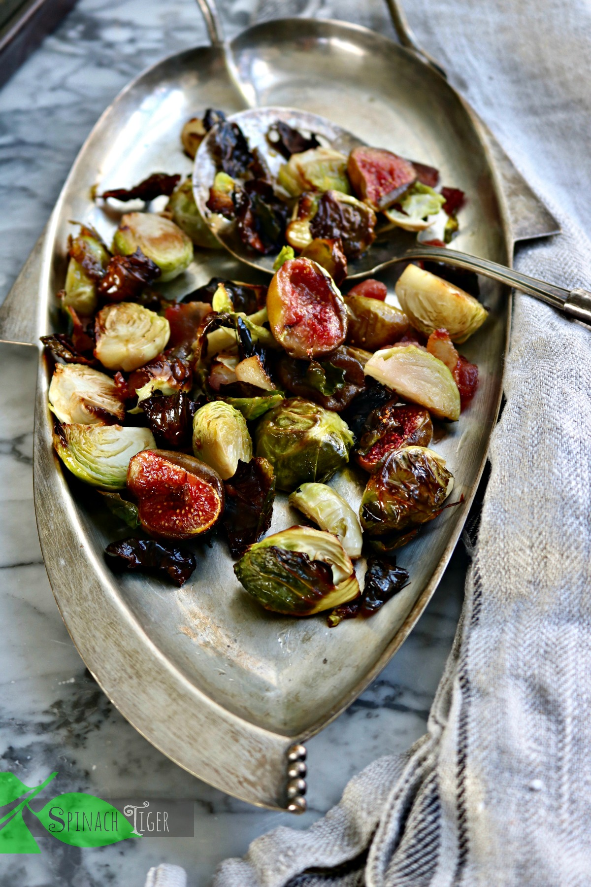 Best Brussels Sprouts Bacon Recipe from Spinach Tiger