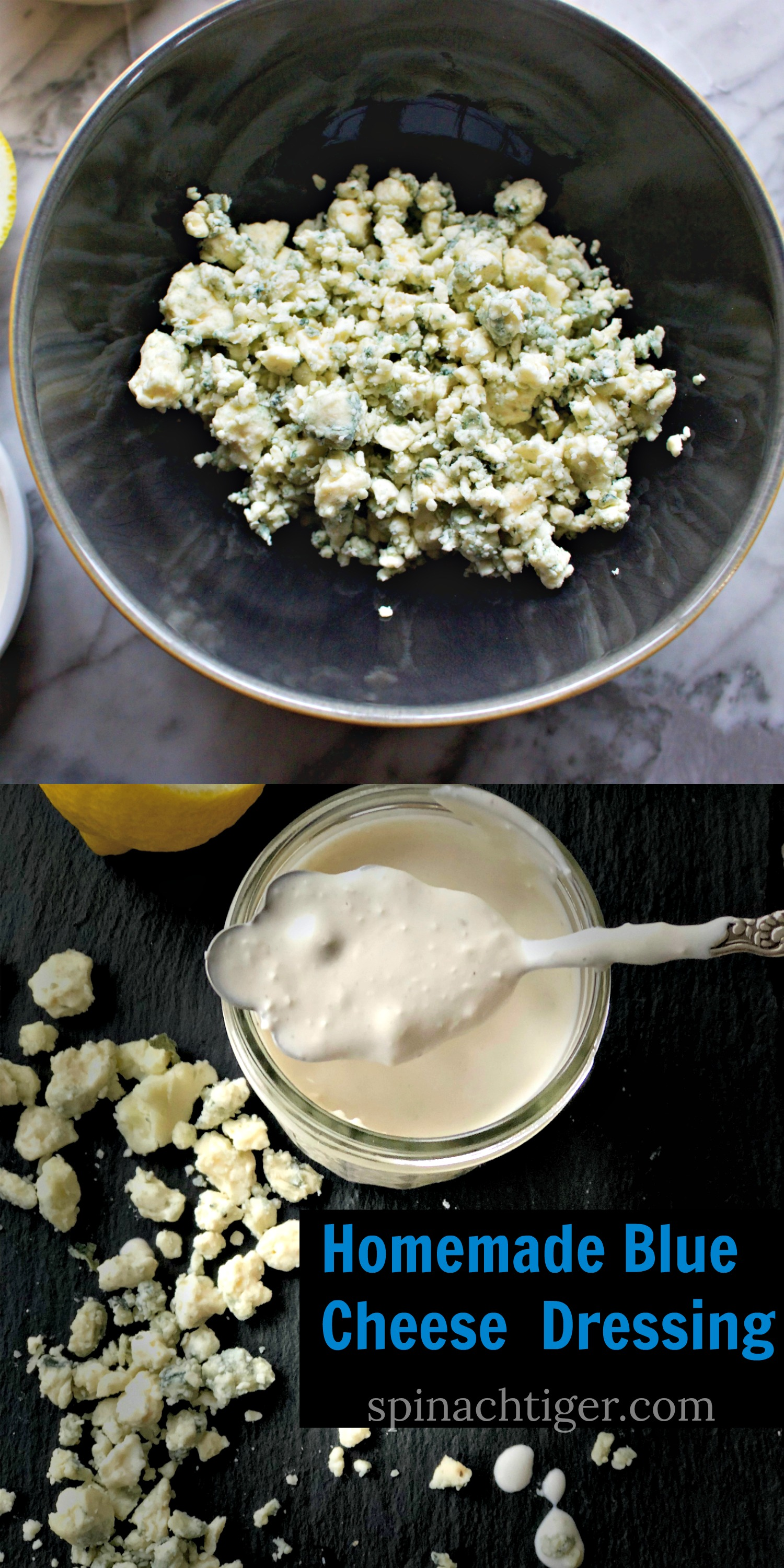 Homemade Blue Cheese Dressing from Spinach TIger