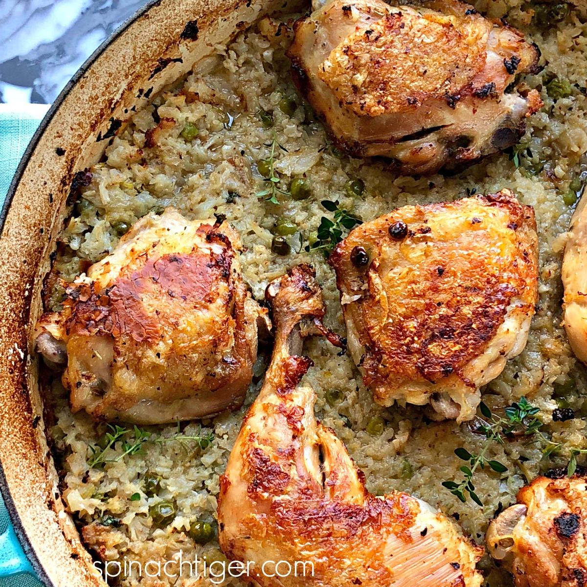 Low Carb Cauliflower Recipes: Chicken and Cauliflower Rice