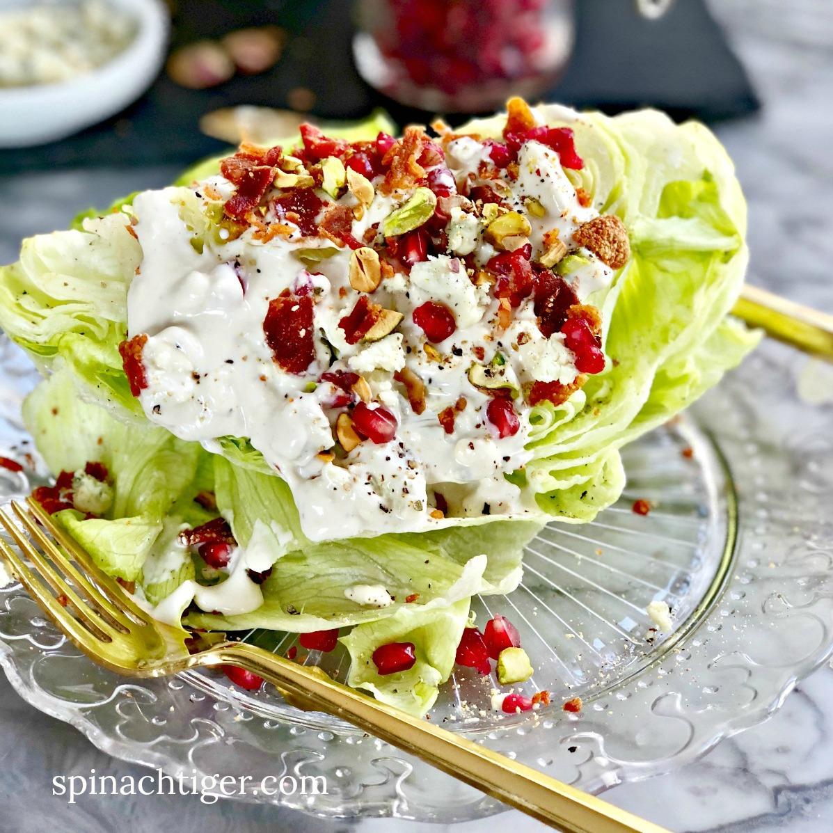 Wedge Salad with Tenderloin Roast