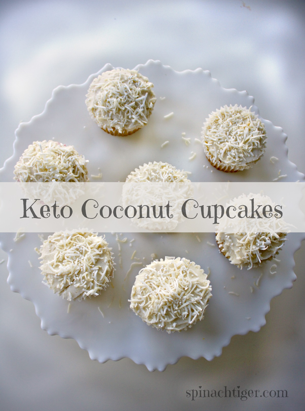 Grain Free Coconut Cupcakes Keto Freindly, from Spinach Tiger