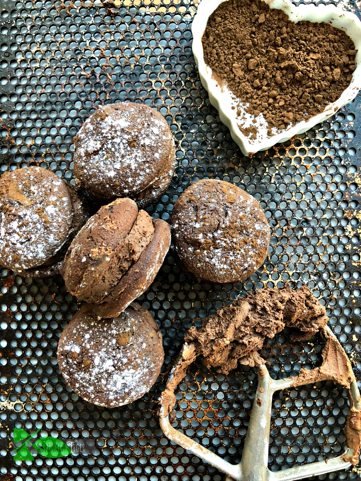 Grain Free Chocolate Whoopie Pie Recipe from Spinach Tiger