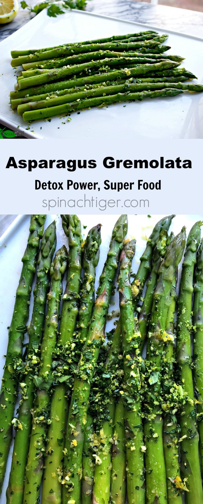 Asparagus Gremolata, Benefits of Asparagus, Detox Superfood, from Spinach Tiger