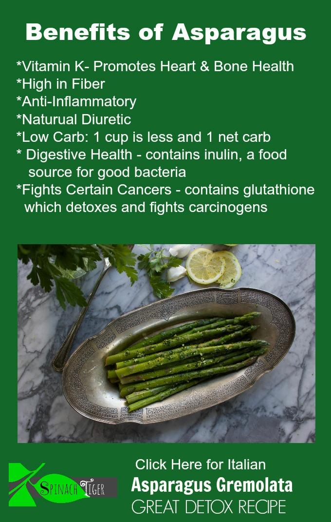 Asparagus Benefits, Asparagus Gremolata Recipe from Spinach Tiger