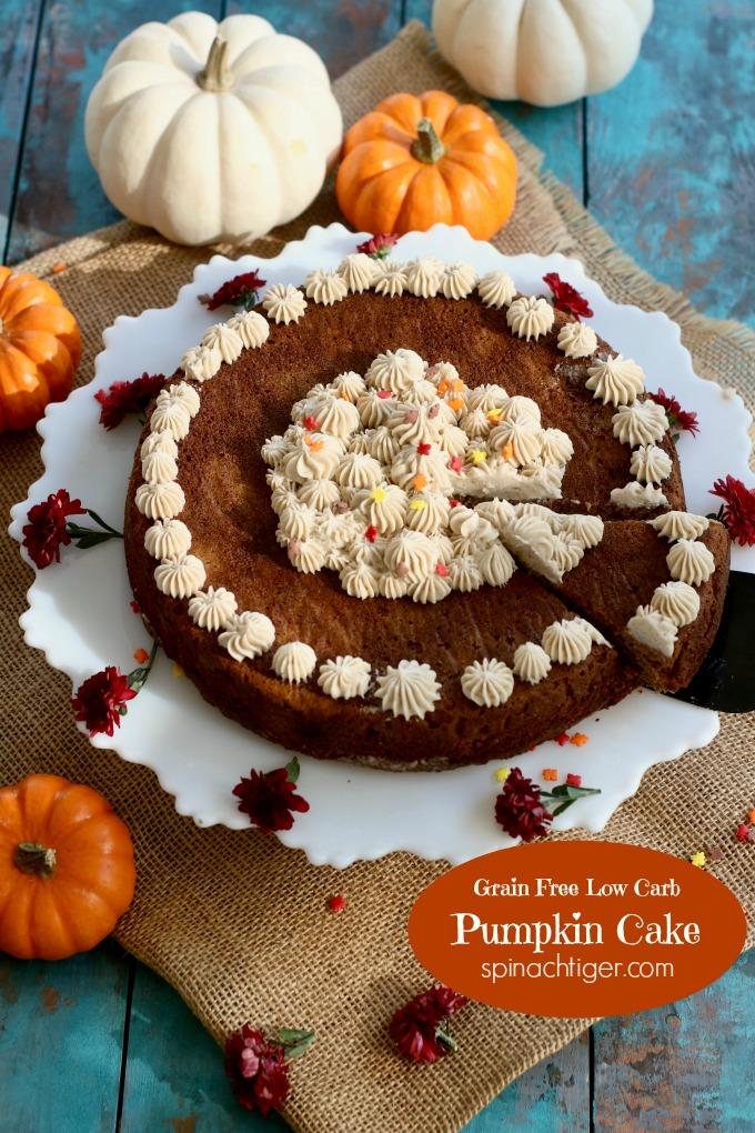 Best Pumpkin Dessert Recipes, Pumpkin Cake from Spinach Tiger