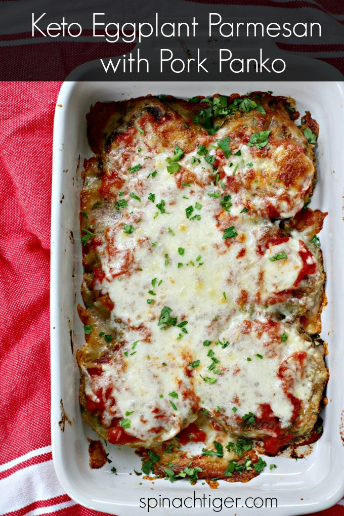 Keto Eggplant Parmesan Recipe from Spinach Tiger
