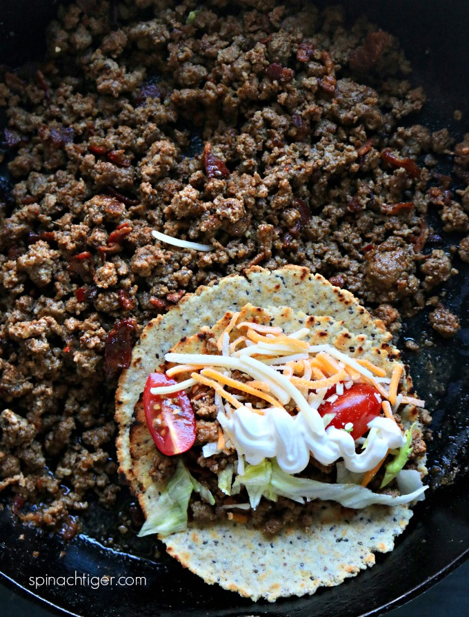 Ground Beef Taco Meat from Spinach Tiger